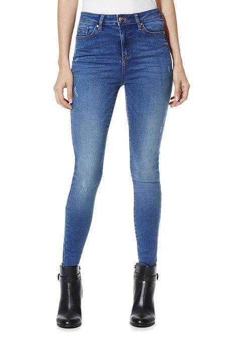c9c06830658 Tesco direct  F F Contour High Rise Super Skinny Jeans with LYCRA® BEAUTY