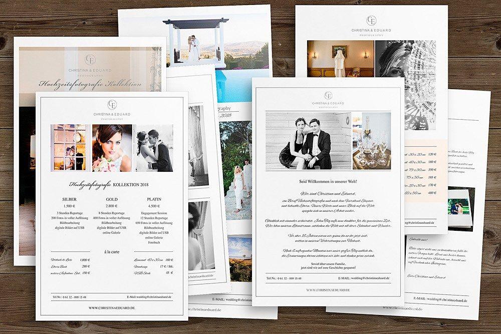 Photoshop Vorlagen Preislisten Classic Edition Fotografie Preisliste Photoshop Hochzeitsfotograf