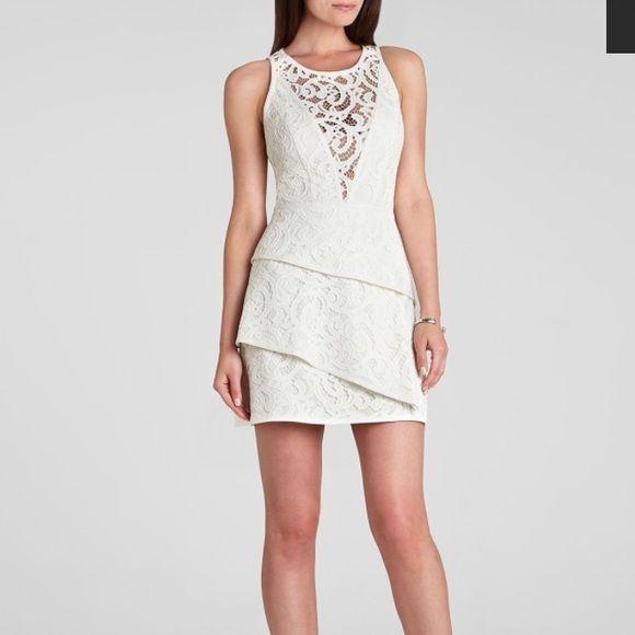 BCBGeneration Asymmetric Tiered Dress