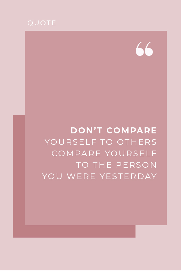 Motivational Quote: Hey there GirlBoss, don't compare yourself to other people, compare yourself to the person you were yesterday. #GirlBoss #MotivationalQuote #Quotes
