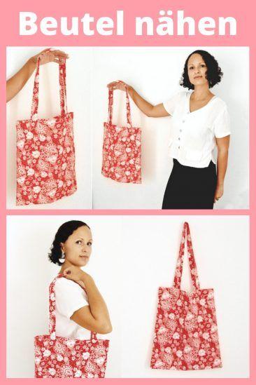 Stoffbeutel nähen für Anfänger / DIY Einkaufstasche, Jutebeutel Näh-Anleitung #keinekleidungnähen