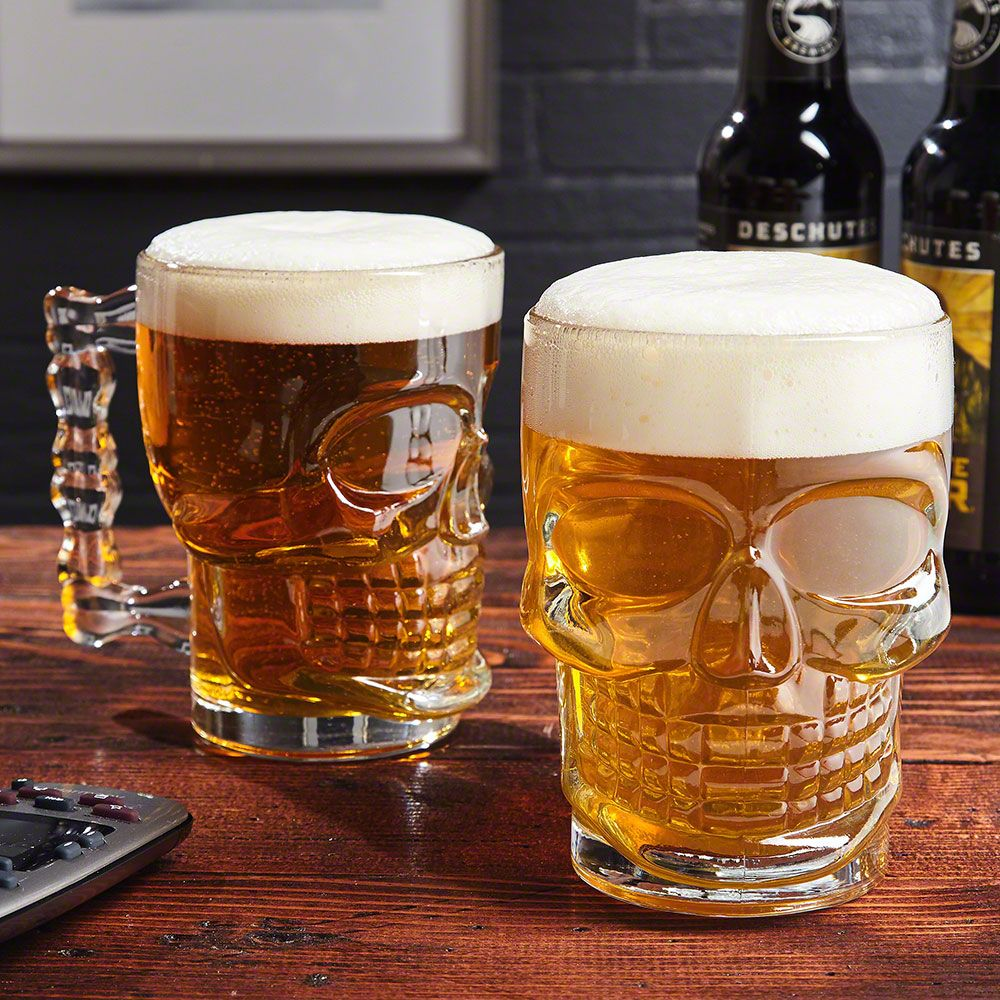 Don't be a bonehead when it comes to scary details! Add a fun touch to your  Halloween get-togethers or simply just because with this awesome set of two skull mugs!