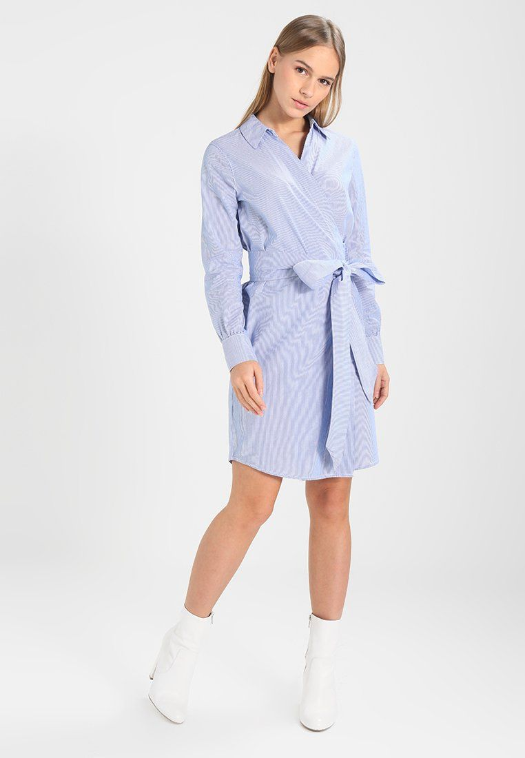 f50c42641 ONLROSEL WRAP STRIPE DRESS - Kjole - medium blue @ Zalando.no ...