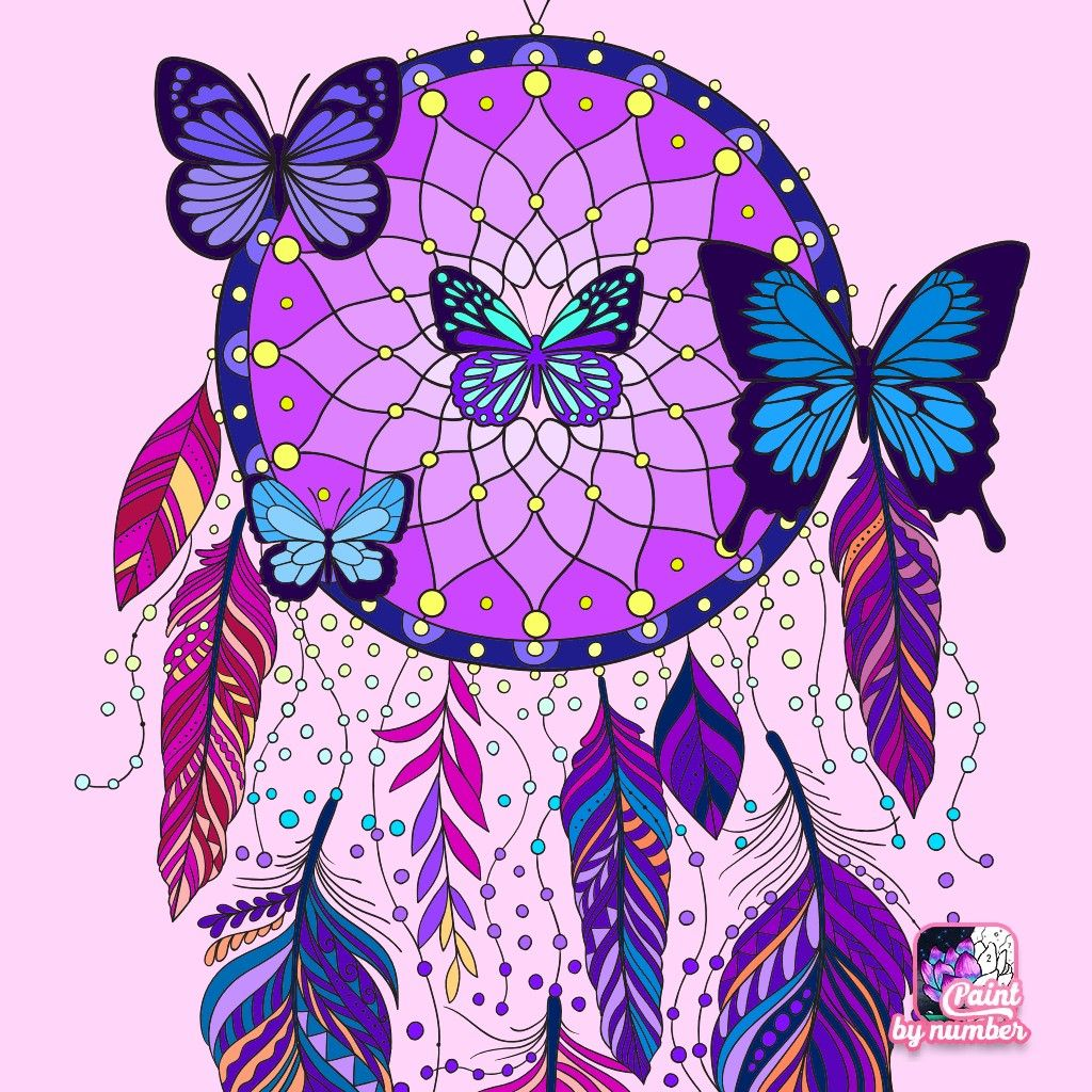 Pin By Blanca Cecilia On Tableaux Dreamcatcher Wallpaper Coloring Books Colorful Art