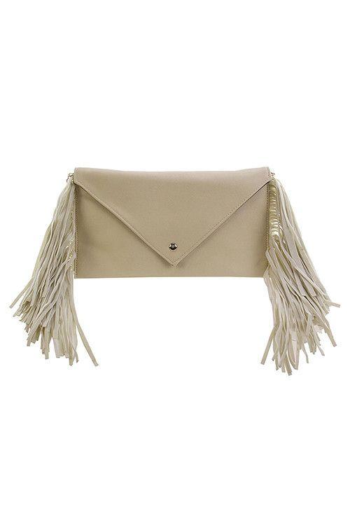 Fringe Envelope Clutch Bag