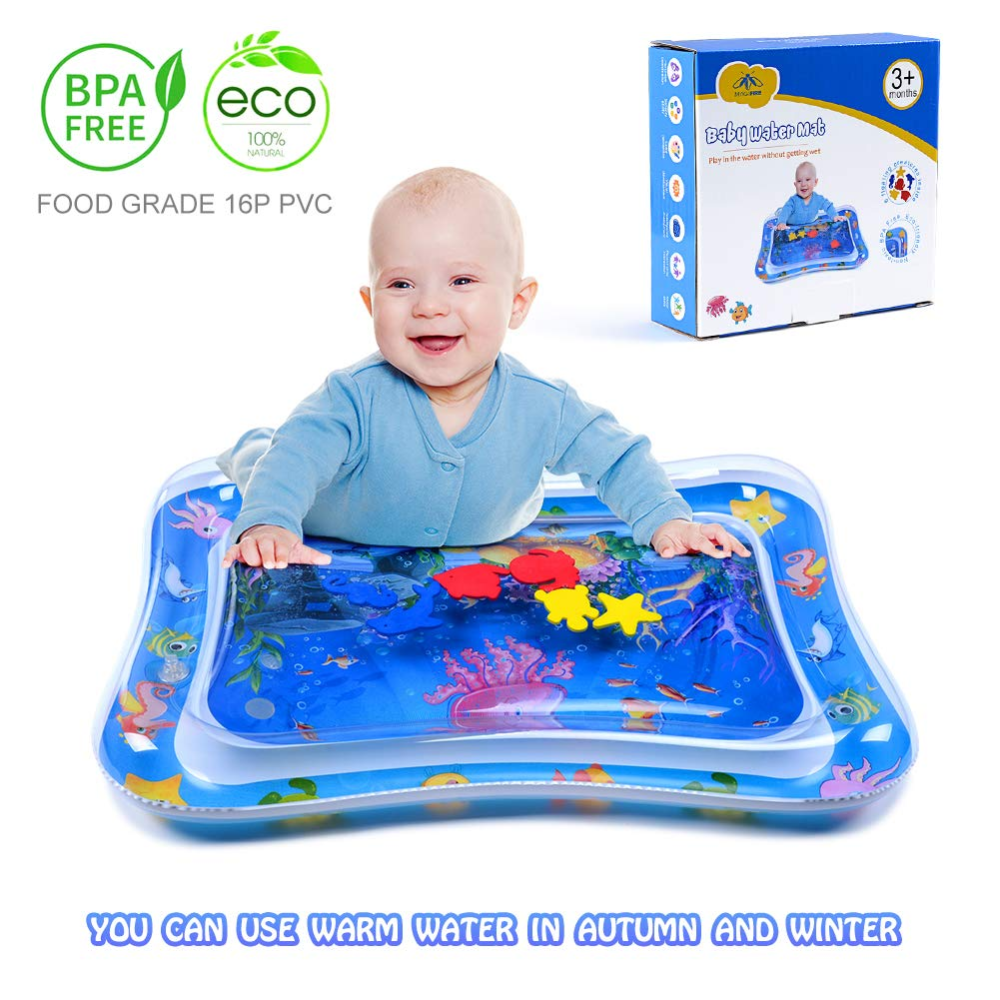 Amazon Com Magifire Tummy Time Baby Water Mat Infant Toy Inflatable Play Mat For 3 6 9 Months Newborn Boy Girl Toys G Tummy Time Toys Newborn Boy Baby Toys