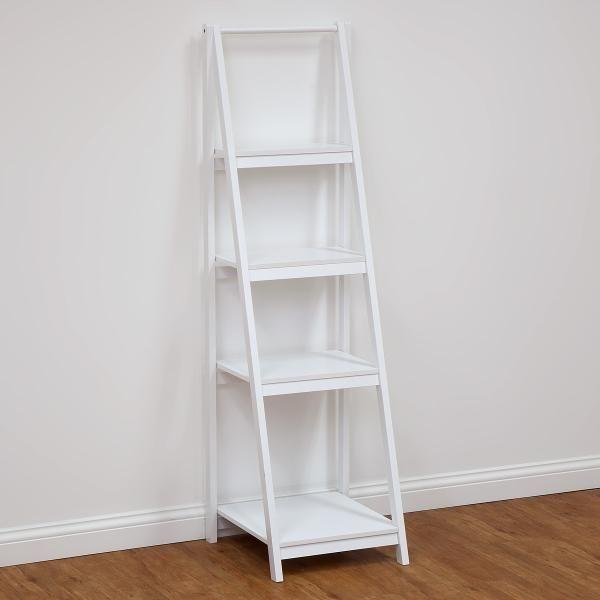 4 tier bathroom ladder shelf white photo 2 for the for Bathroom ladder shelf