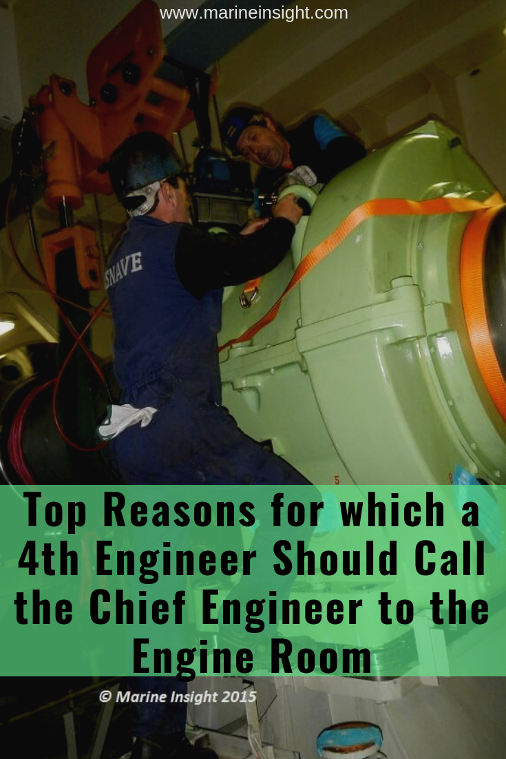Marine Engine Room: Top Reasons For Which A 4th Engineer Should Call The Chief
