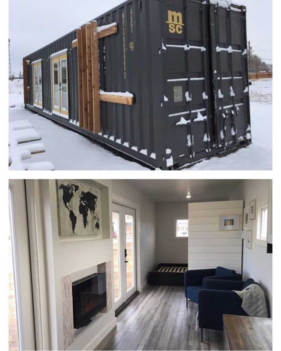 The 320 Sq Ft Intellectual Shipping Container House By Longmont