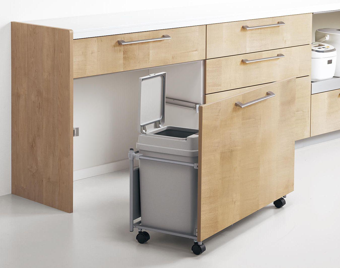 収納 ゴミ箱収納付き食器棚 As Well As 収納s 収納 ゴミ箱収納付き