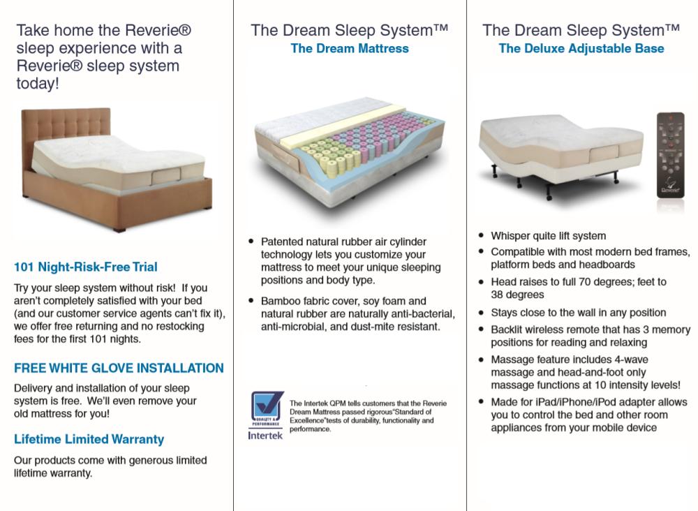 Reverie mattress Online products Bed Frame, Mattress