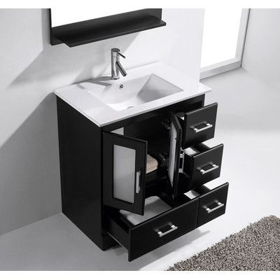 Virtu Zola 30 Single Bathroom Vanity Set With Mirror 30 Inch