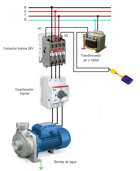 Solucionado como conectar una bomba trifasica q llene for Como instalar una terma electrica