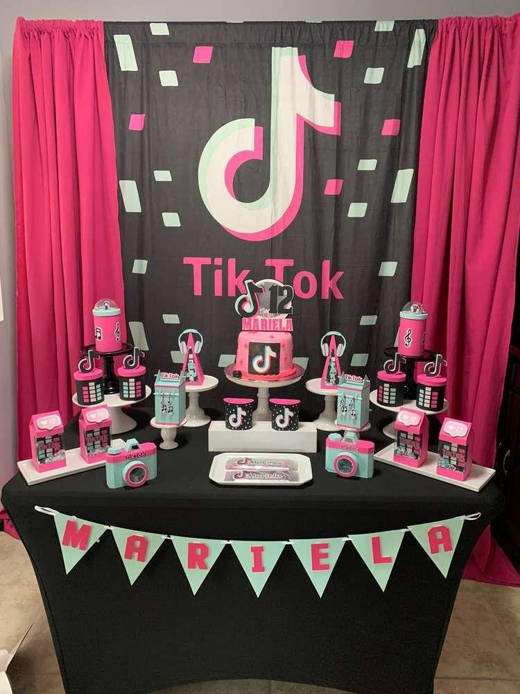 Tik Tok Birthday Party Ideas Photo 2 Of 13 13th Birthday Party Ideas For Girls 12th Birthday Party Ideas Kids Themed Birthday Parties