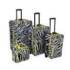 4-Piece Luggage Set, Limezebra