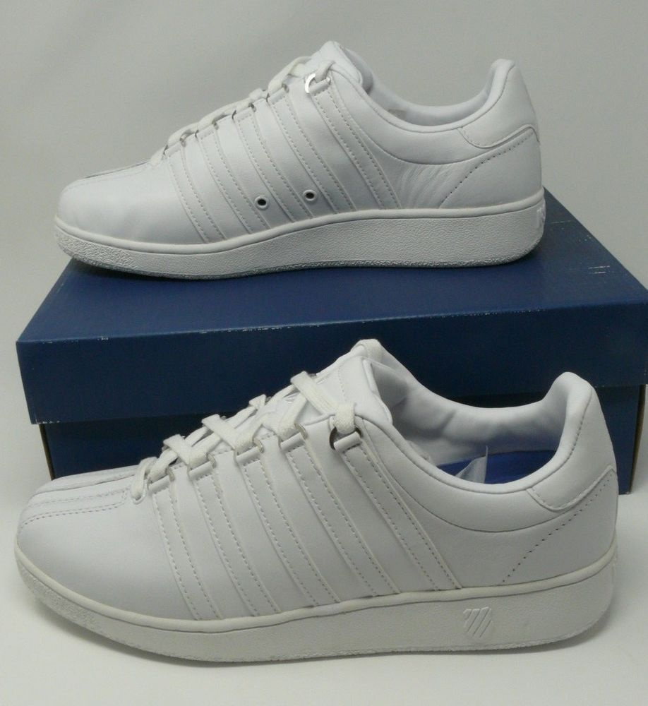 pearly white k-swiss shoes