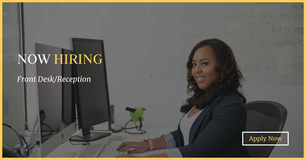 Nowhiring Frontdesk Reception Administrative Office Jobs Champaign Il At Geebo Pt Front Desk Reception Can Reception Desk Front Desk Reception