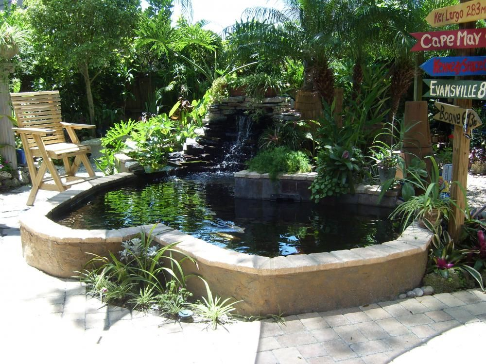 Building an above ground koi pond google search dream for Garden pond design and construction