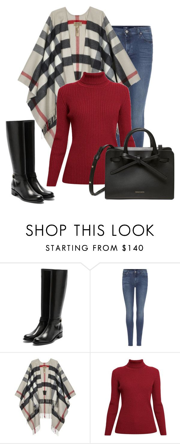 """""""Untitled #512"""" by sylvia-tall ❤ liked on Polyvore featuring Rupert Sanderson, 7 For All Mankind, Burberry and Rumour London"""