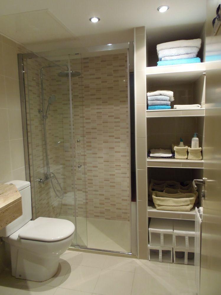 Mamparas de ba o y estantes buscar con google ba o - Estantes para interior ducha ...