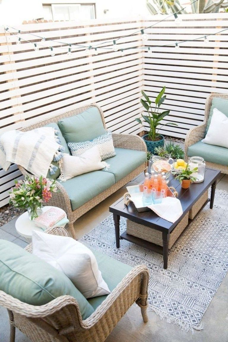 50 Cool Small Backyard Decorating Ideas Small Apartment Patio Apartment Patio Decor Patio Decorating Ideas On A Budget