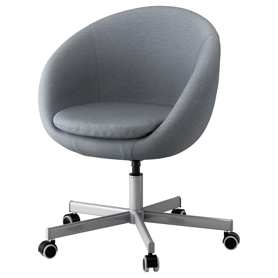 SKRUVSTA Swivel chair Vissle gray Grey desk chair