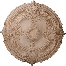 Ceiling Medallions Lowes Ekena Millwork Acanthus 20In X 20In Wood Ceiling Medallion