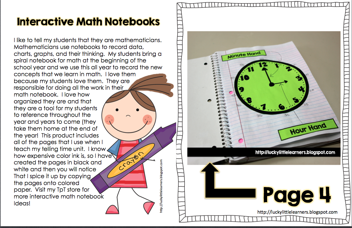 Teach Two Reach 2nd Grade Happenings: interactive math - telling time