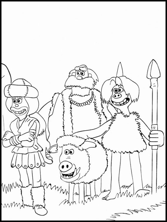 Printable Coloring Pages For Kids Early Man 8
