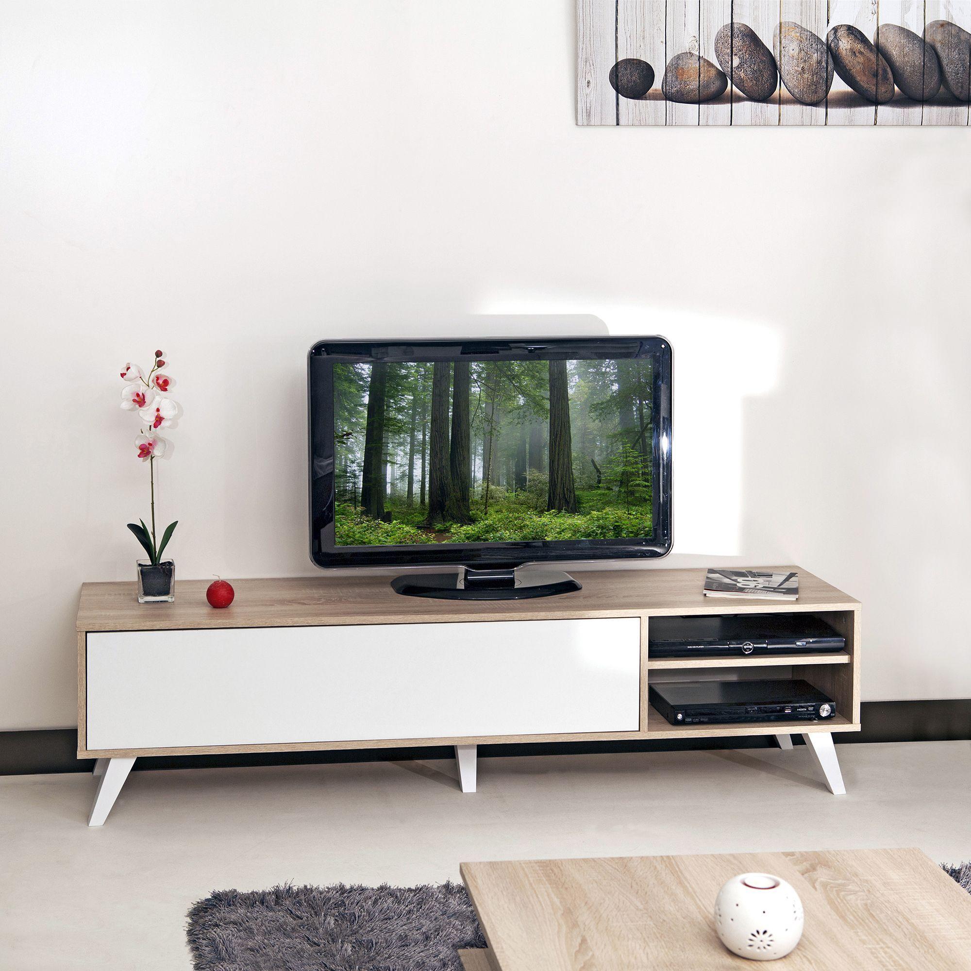 meuble tv style scandinave coloris