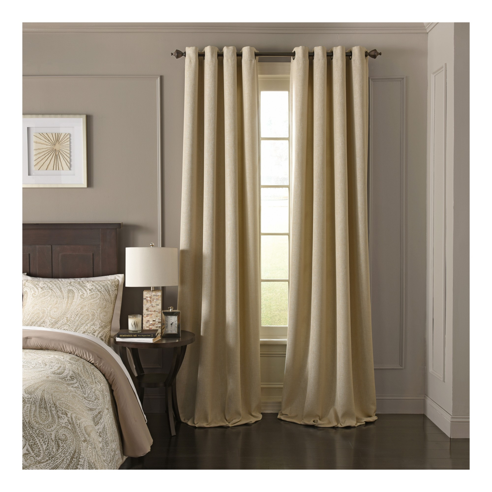 Arlette Blackout Window Curtain Creme Brulee Solid 52x108