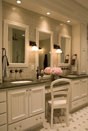 13 Dreamy Bathroom Lighting Ideas  Traditional Bathroom 21St Amusing Bathroom Cabinets Design Inspiration Design
