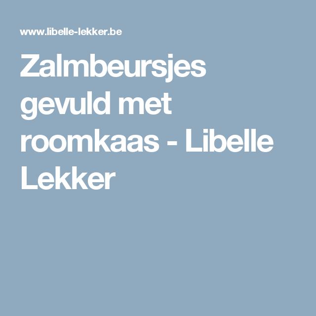 Zalmbeursjes gevuld met roomkaas -                         Libelle Lekker