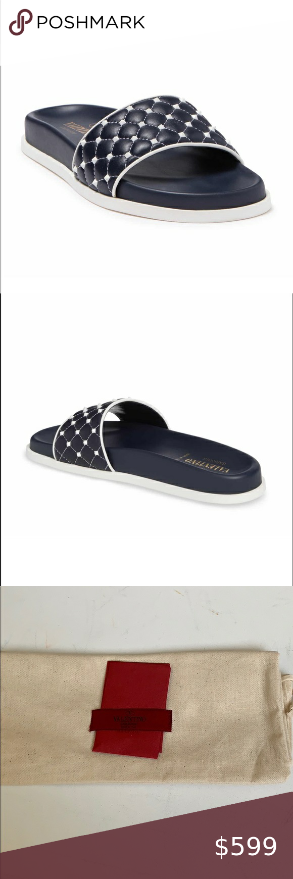 Sold Valentino Rockstuds Slide Price Firm In 2020 Valentino Rockstud Valentino Garavani Shoes Sandal Fashion