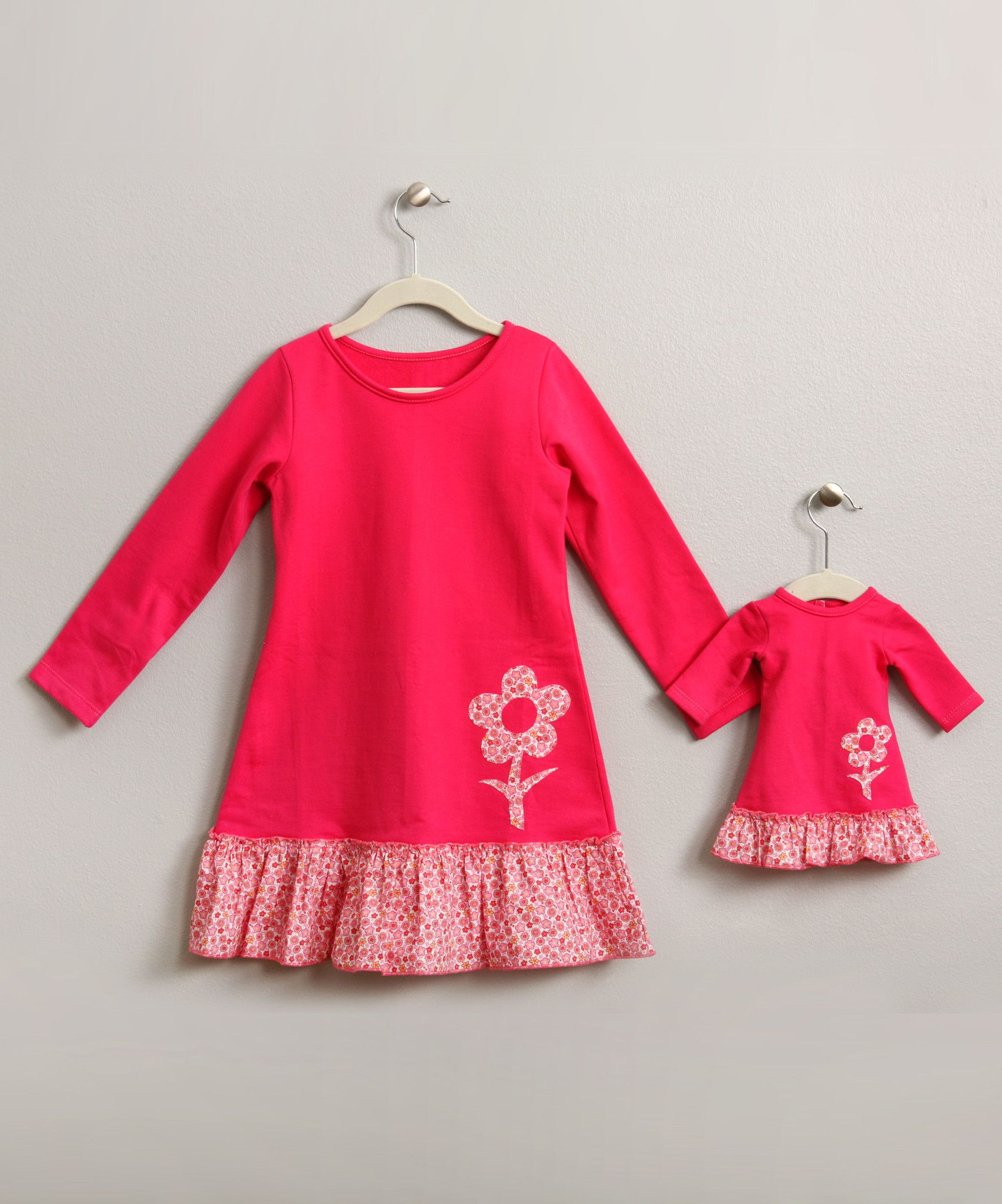 Pink Flower Dress with Matching Doll Dress $79.00 | 4Ever Princess ...