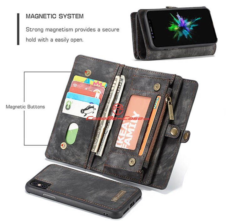 Caseme iphone x detachable zipper wallet case