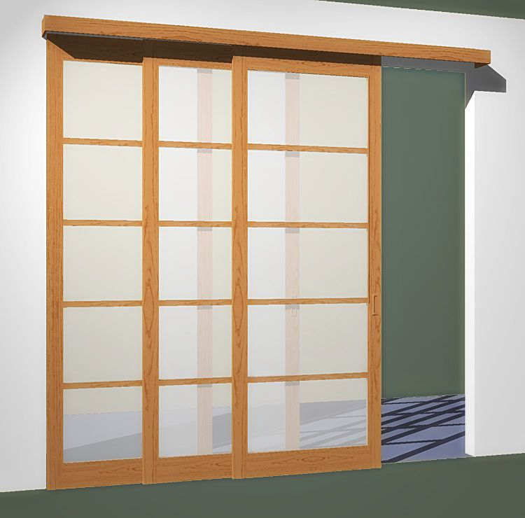3 Sliding Doors 3 Tracks Fits Openings Less Than 102in X 96in Sliding Doors Sliding Door Track Sliding Closet Doors