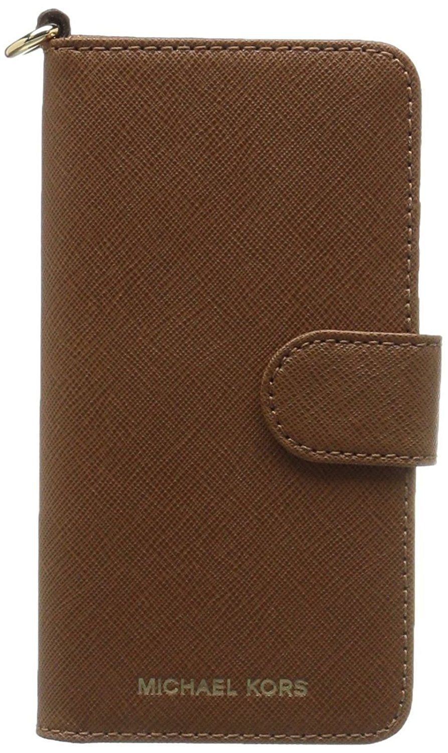 55768f694283d2 Michael Kors Electronic Leather Folio Phone Case for iPhone 7 Plus & iPhone  8 Plus, Luggage