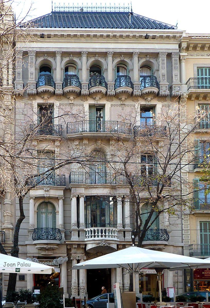 Casa Climent Arola built in 1902 by Francesc de Paula del Villar i Carmona in Rambla de Catalunya, 27. Barcelona, Catalonia   Europe