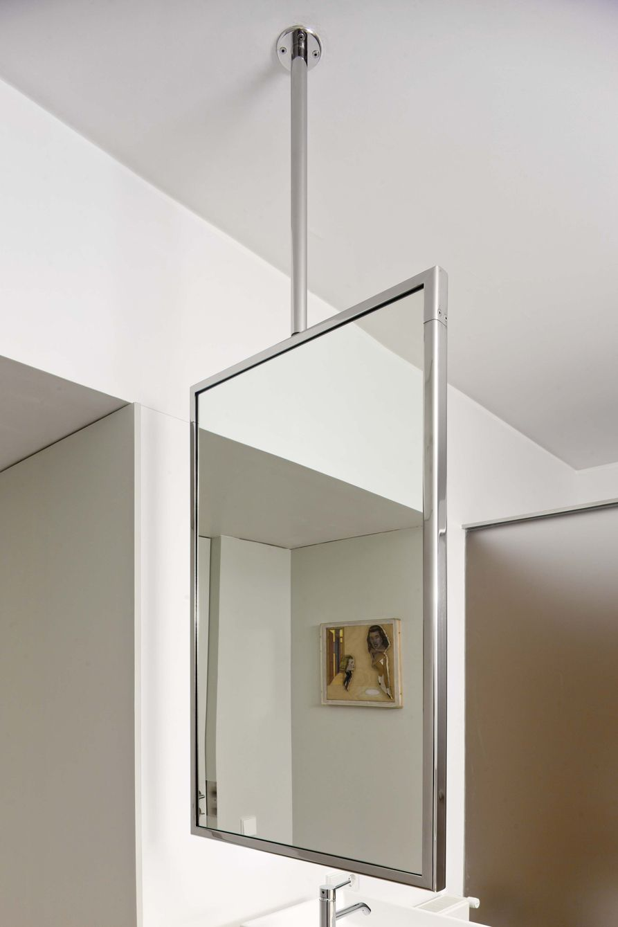 M is a suspended mirror that uses the ceiling as its for Uses of mirror