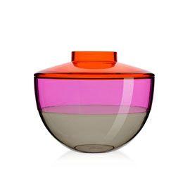 Kartell Shibuya Orange Violet Smoke Coloured Vase