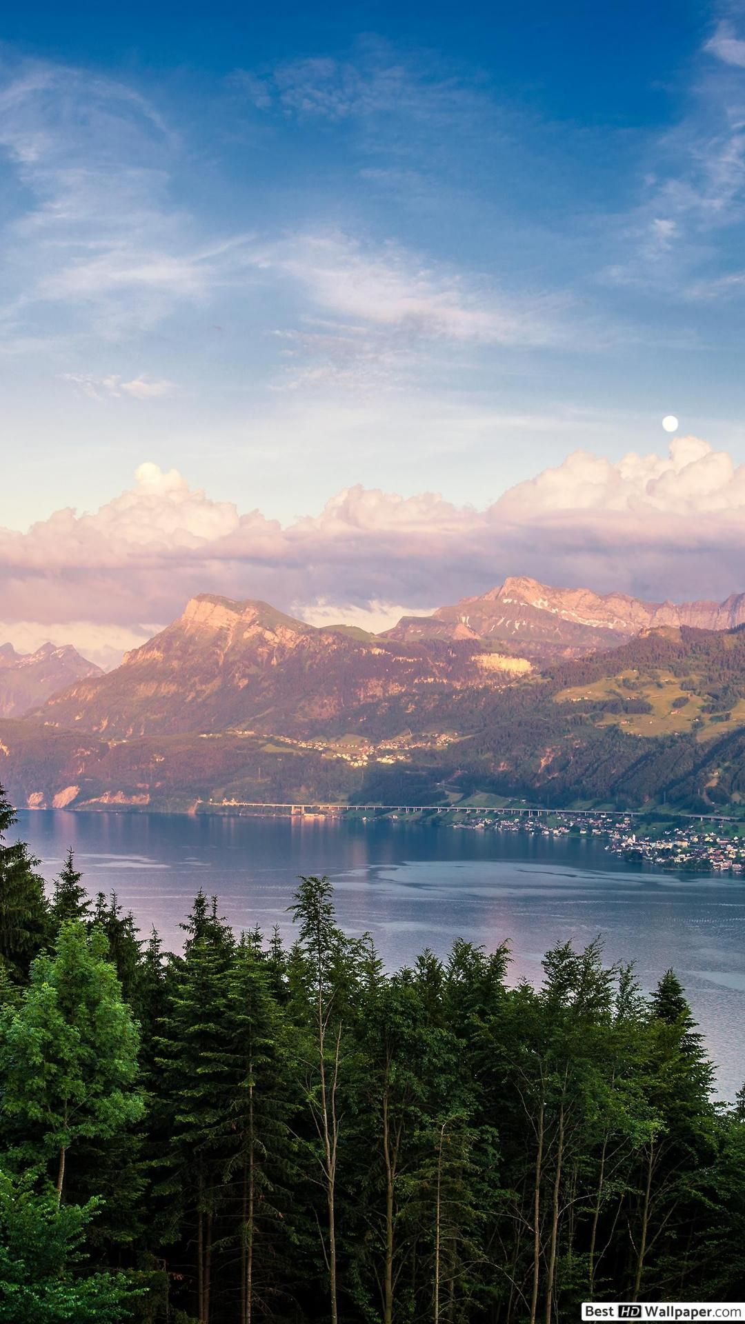 Belle Vue Sur Les Montagnes Hd Fond D Ecran Telecharger Places To Visit Lake Zurich Beautiful Places To Visit