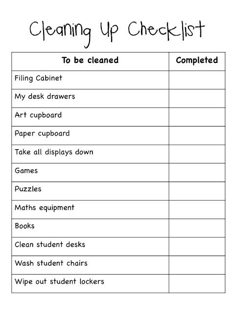 free editable checklist for organizing the end of year