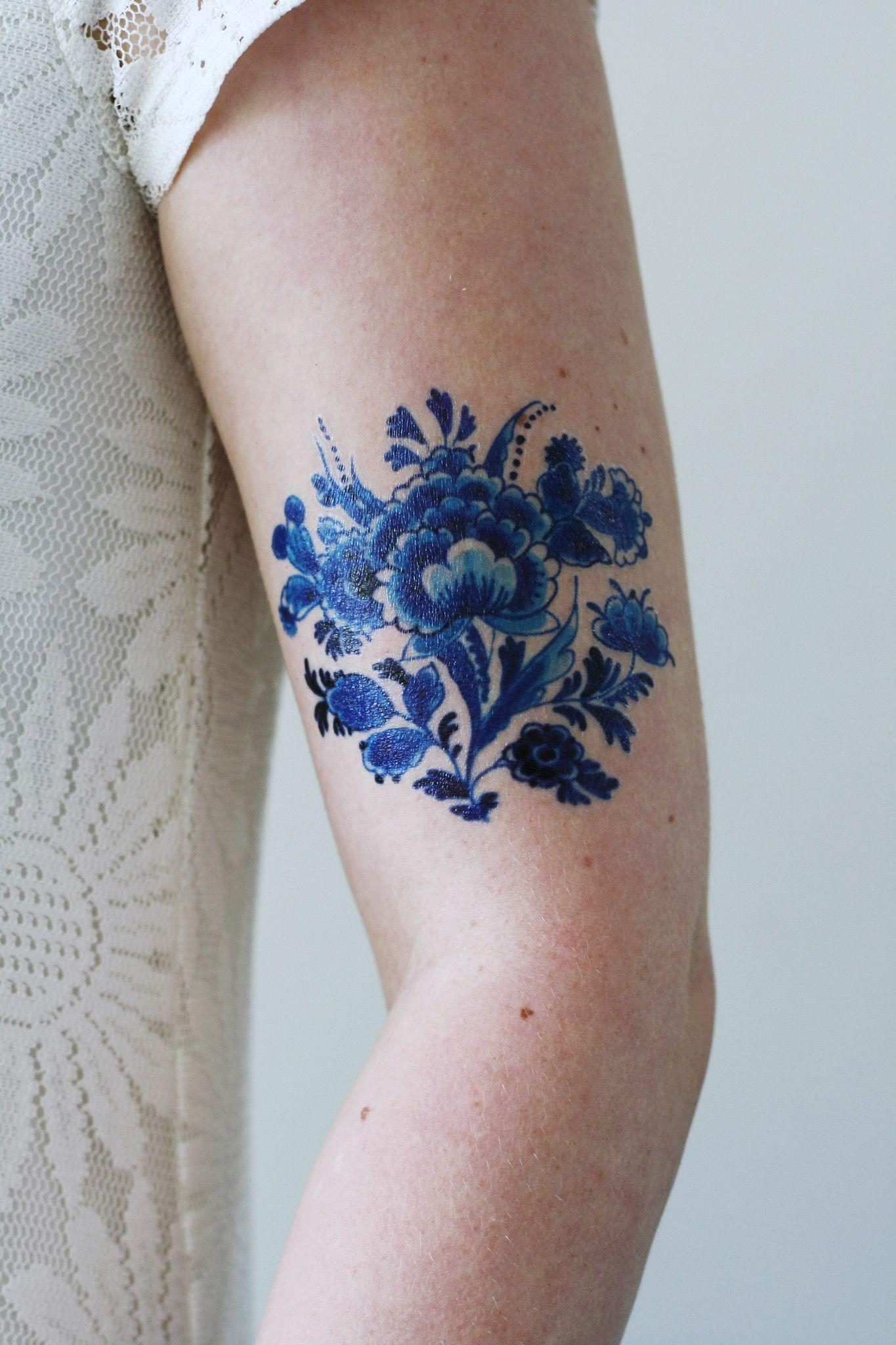 Delft Blue Tattoo Delft Blue Blue Tattoo Blue Ink
