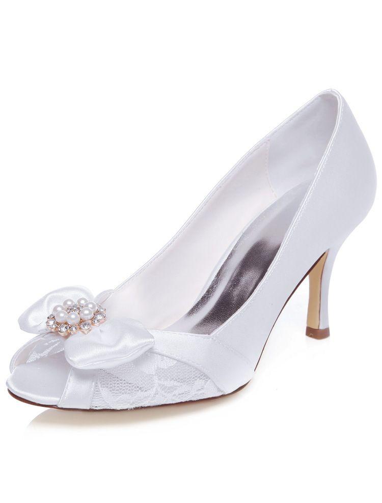 Minitoo , Damen Pumps, beige - Ivory-6.5cm Heel - Größe: 38