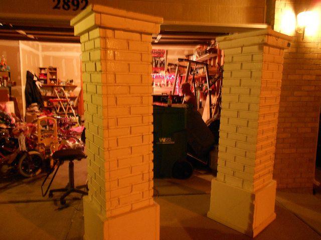 brick columns out of foam Halloween Haunted House Ideas  Decor - halloween haunted house ideas