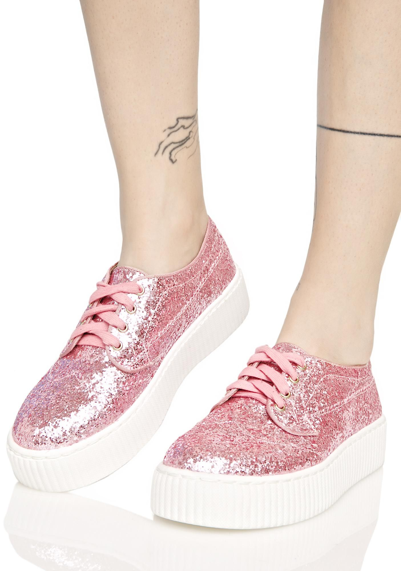 75cde4199aae3 Shellys London Pink Sparkle Sneakers Pink Sparkles