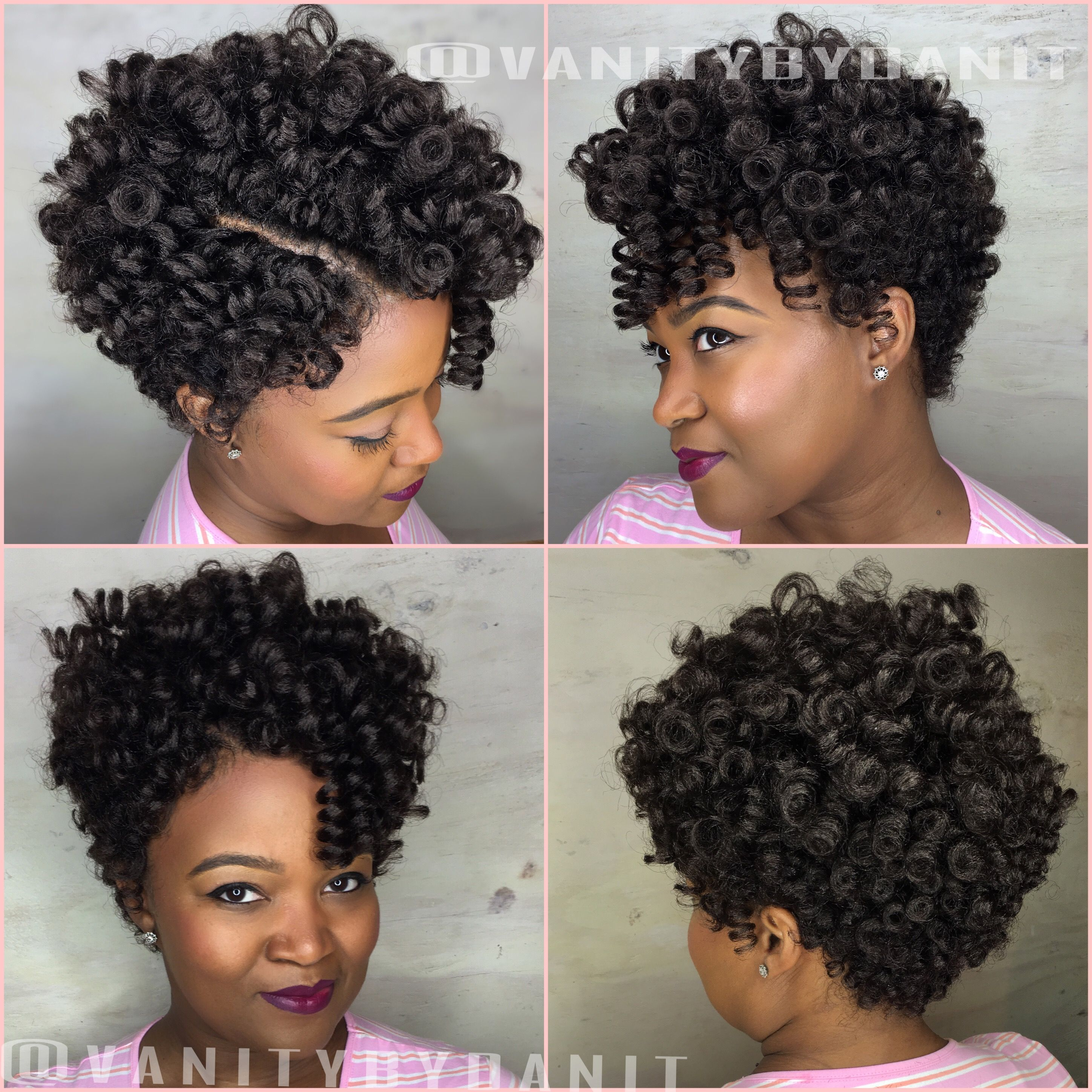 Tapered cut crochet braids no hair left out painless neat