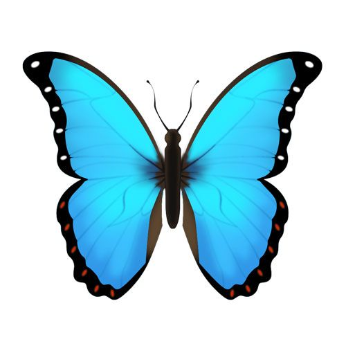 Butterfly Emoji Yahoo Image Search Results Blue Butterfly Blue Emoji Emoji Stickers