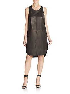 RAG & BONE Leather Shift Dress. #ragbone #cloth #dress